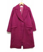 Pinky & Dianne(ピンキーアンドダイアン)の古着「ウールWクロスコート」|カシス