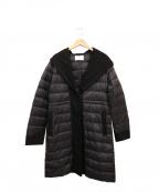 MAYSON GREY(メイソングレイ)の古着「ショールフードダウンコート」|ブラック
