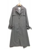 Ameri VINTAGE(アメリビンテージ)の古着「BACK PLEATS LAYERED COAT」|グレー
