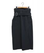 THE RERACS(ザリラクス)の古着「ベルテッドスカート」|ネイビー