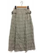 Uhr(ウーア)の古着「バックルロングスカート」