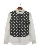 BLACK COMME des GARCONS(ブラックコムデギャルソン)の古着「ドット切替シャツ」|ブラック×ホワイト