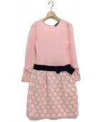 M'S GRACY(エムズグレイシー)の古着「切り替えニットワンピース」 ピンク