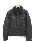 BURBERRY BLACK LABEL(バーバリーブラックレーベル)の古着「裏ボアデニムジャケット」|ブラック