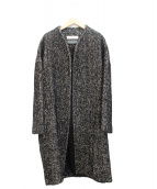 saqui(サキ)の古着「ノーカラーコート」|ブラック
