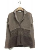 BRUNELLO CUCINELLI(ブルネロクチネリ)の古着「カシミヤニットジャケット」|ベージュ