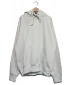 AURALEE(オーラリー)の古着「BAGGY POLYESTER SWEAT P/O PARK」|ライトグリーン