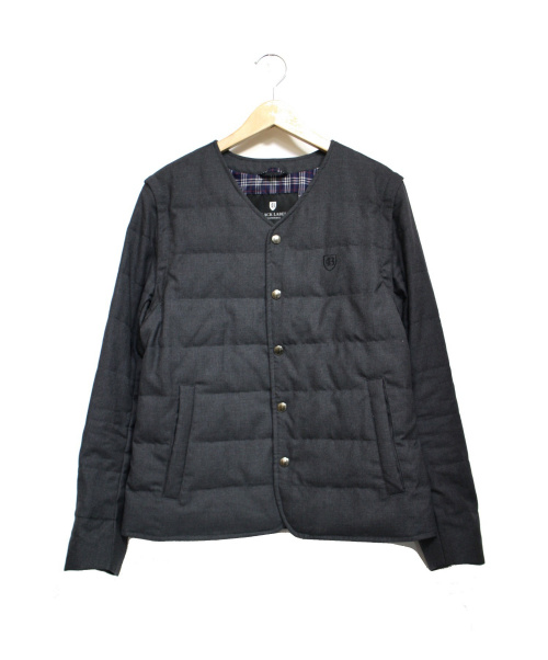 BLACK LABEL CRESTBRIDGE(ブラックレーベル・クレストブリッジ)BLACK LABEL CRESTBRIDGE (ブラックレーベルクレストブリッジ) 2WAYダウンジャケット グレー サイズ:Mの古着・服飾アイテム