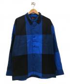 MASSES(マシス)の古着「ビッグチェックシャツ」|ブルー×ブラック