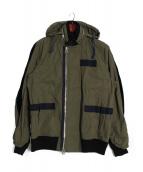 sacai(サカイ)の古着「切替ミリタリージャケット」|オリーブ