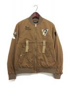 UNDERCOVER(アンダーカバー)の古着「19SS サテンテープMA-1ジャケット」|ブラウン