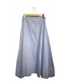 MADISON BLUE(マディソンブルー)の古着「オックスミモレフレアスカート」|スカイブルー