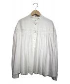 SCYE(サイ)の古着「前開きリネンタックシャツ」|アイボリー