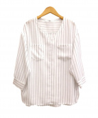 UNTITLED(アンタイトル)の古着「ストライプブラウス」|ホワイト
