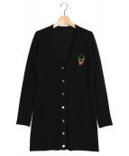 lucien pellat-finet(ルシアンペラフィネ)の古着「カシミヤロングカーディガン」 ブラック