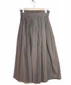 DOUBLE STANDARD CLOTHING(ダブルスタンダードクロージング)の古着「ギャザースカート」|モカ