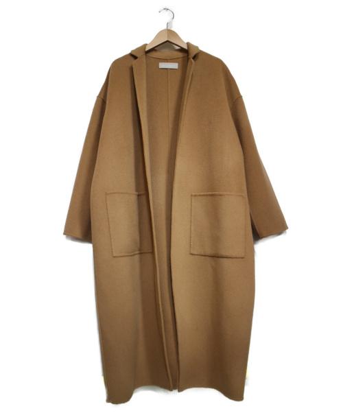 AUDREY AND JOHN WAD(オードリーアンドジョンワッド)AUDREY AND JOHN WAD (オードリーアンドジョンワッド) ハンドメイドウールチェスターコート キャメル サイズ:Fの古着・服飾アイテム