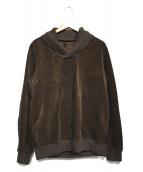 sacai(サカイ)の古着「エルボーパッチコーデュロイプルオーバー」|ブラウン
