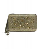 ()の古着「スタースタッズ2つ折り財布」|ライトゴールド