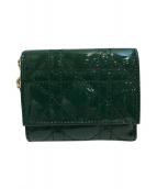Christian Dior(クリスチャン ディオール)の古着「3つ折り財布」|グリーン