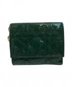 Christian Dior()の古着「3つ折り財布」 グリーン