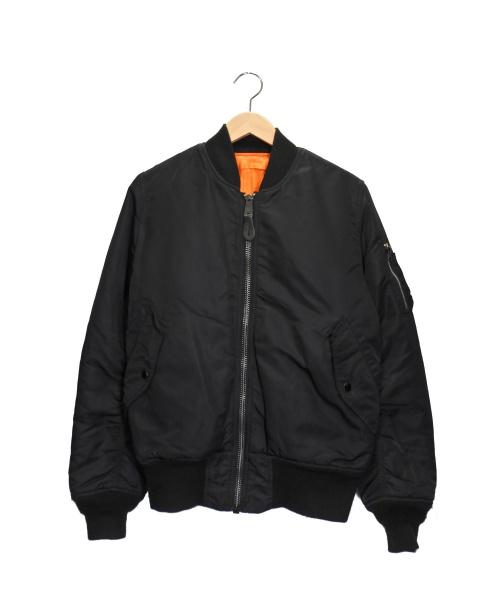 ALPHA(アルファ)ALPHA (アルファ) MA-1ジャケット ブラック サイズ:Sの古着・服飾アイテム