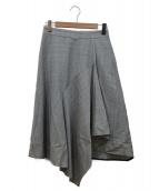 Demi-Luxe BEAMS(デミルクスビームス)の古着「ラッフルフレアスカート」 グレー