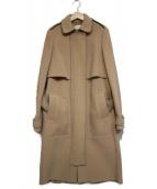 CARVEN(カルヴェン)の古着「ベルテッドコート」 ベージュ