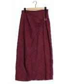 tricot COMME des GARCONS(トリコ コムデギャルソン)の古着「刺繍ロングスカート」|ボルドー