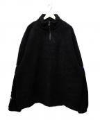 PLEASURES(プレジャーズ)の古着「ハーフジップボアジャケット」 ブラック