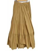 UNITED ARROWS(ユナイテッドアローズ)の古着「コットンティアードマキシスカート」|ベージュ
