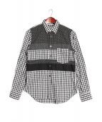 BLACK COMME des GARCONS(ブラックコムデギャルソン)の古着「パッチワークシャツ」|ブラック×ホワイト