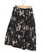 COMME des GARCONS()の古着「ブリーチティアードスカート」 ブラック