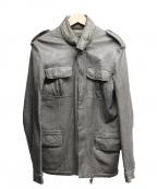 sisii(シシ)の古着「レザーM-65ジャケット」|グレー