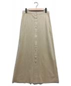 Noble(ノーブル)の古着「フェイクスエードドットボタンタイトスカート」|ベージュ