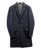 ATTACHMENT(アタッチメント)の古着「カシミヤ混平二重メルトンチェスターコート」|ネイビー