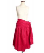 ()の古着「コットンラップスカート」|ピンク