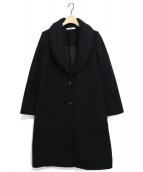 UN3D.(アンスリード)の古着「ダブルショールカラーコート」|ブラック