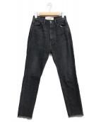 THE SHINZONE(ザ シンゾーン)の古着「スリムカットオフデニムパンツ」|ブラック