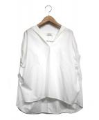 toteme(トーテム)の古着「ギャザースリーブブラウス」|ホワイト