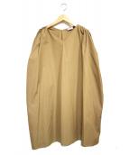 toteme(トーテム)の古着「ギャザースリーブワンピース」|ベージュ
