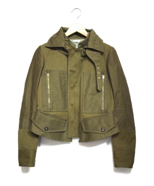CELINE(セリーヌ)CELINE (セリーヌ) ミリタリージャケット カーキ サイズ:36の古着・服飾アイテム