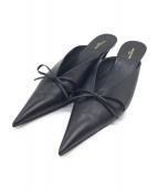 BALENCIAGA(バレンシアガ)の古着「リボンミュール」|ブラック