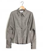 SAYAKA DAVIS(サヤカ デイヴィス)の古着「グレンチェックシャツ」|グレー
