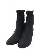 PELLICO SUNNY(ペリーコサニー)の古着「ストレッチショートブーツ」 ブラック