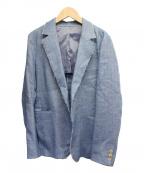 BACCA(バッカ)の古着「リネンウールヘリンボーン テーラードジャケット」|ブルー