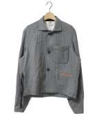 SUNSEA()の古着「Pencil Stripe Jacket」|グレー