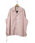 SUNSEA(サンシー)の古着「RED STRIPE GIGOLO SHIRT」|レッド