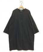 オローネ(オローネ)の古着「バルーンロングジャケット」|グレー