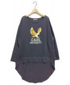 CALUX(キャラクス)の古着「EAGLE WIDEスウェット」|ネイビー